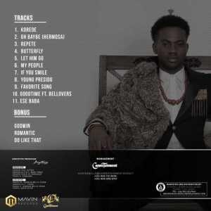 ALBUM TRACKLIST: Korede Bello – Belloved